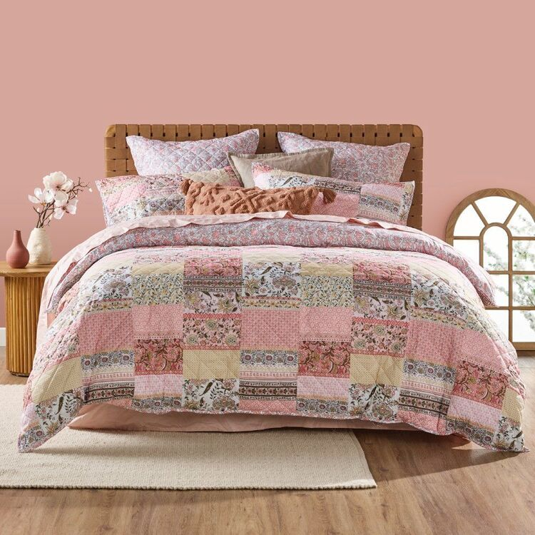 KOO Boho Quilted Quilt Cover Set