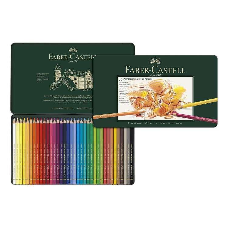 Faber Castell 36 Polychromos Colour Pencils Tin