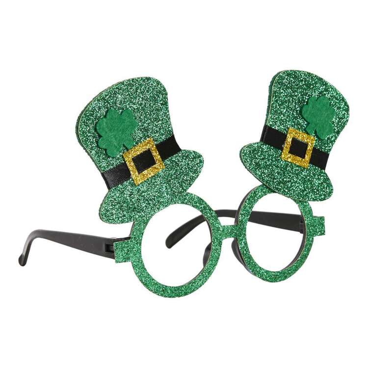 Spartys St. Patrick's Day Novelty Top Hat Glasses