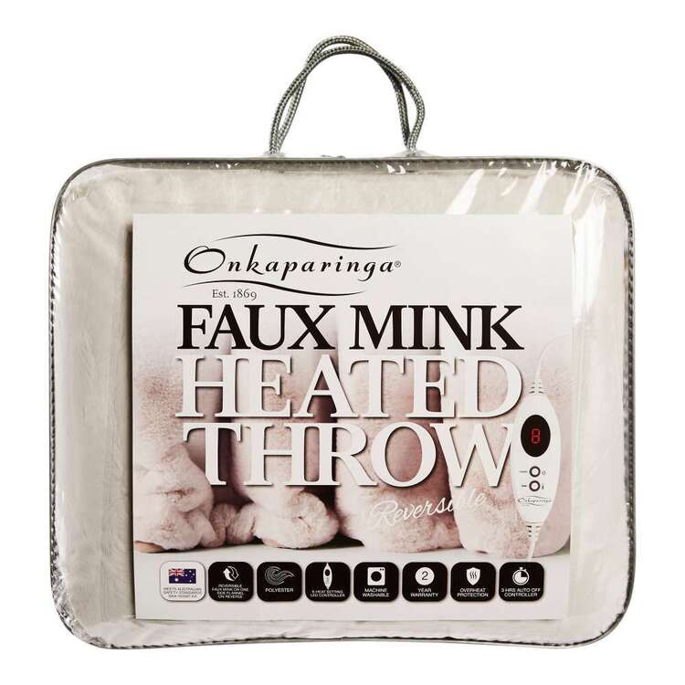 Onkaparinga Faux Mink Heated Throw