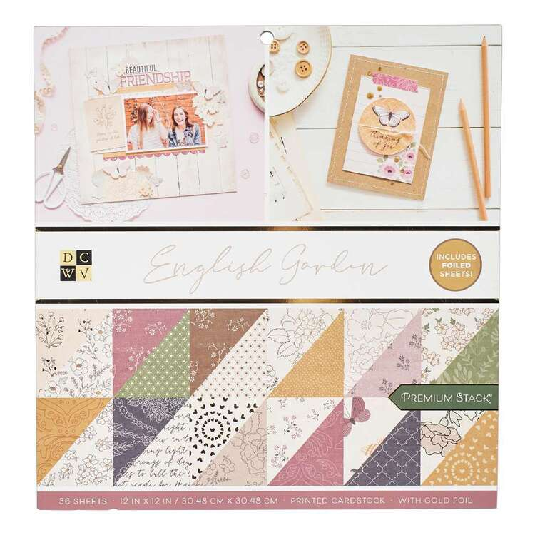 Die Cuts With A View English Garden Paper Pad