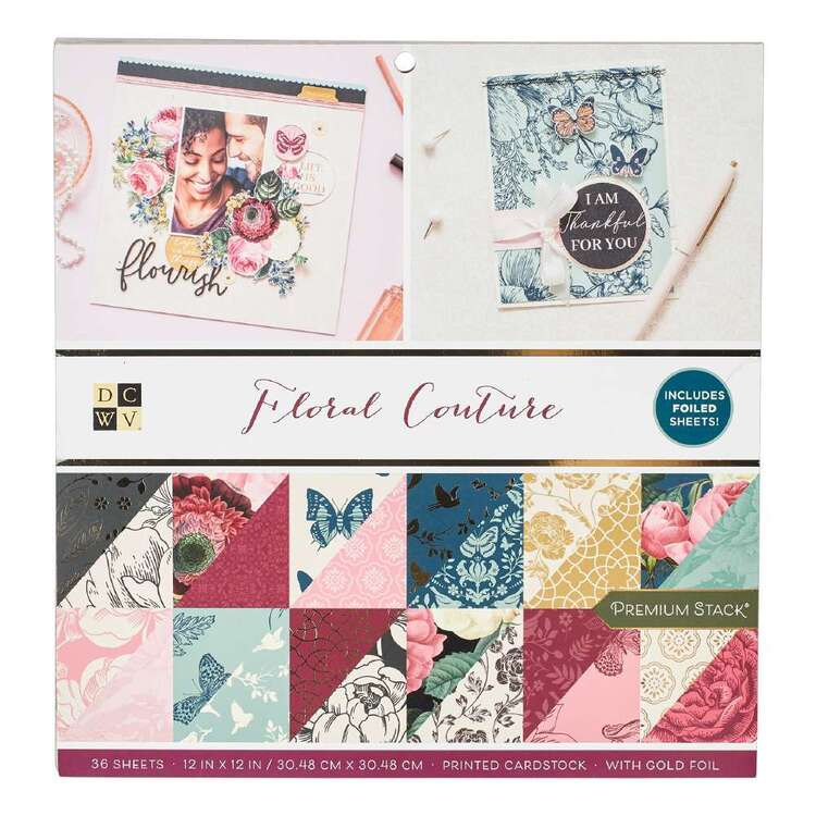 Die Cuts With A View Floral Couture Paper Pad