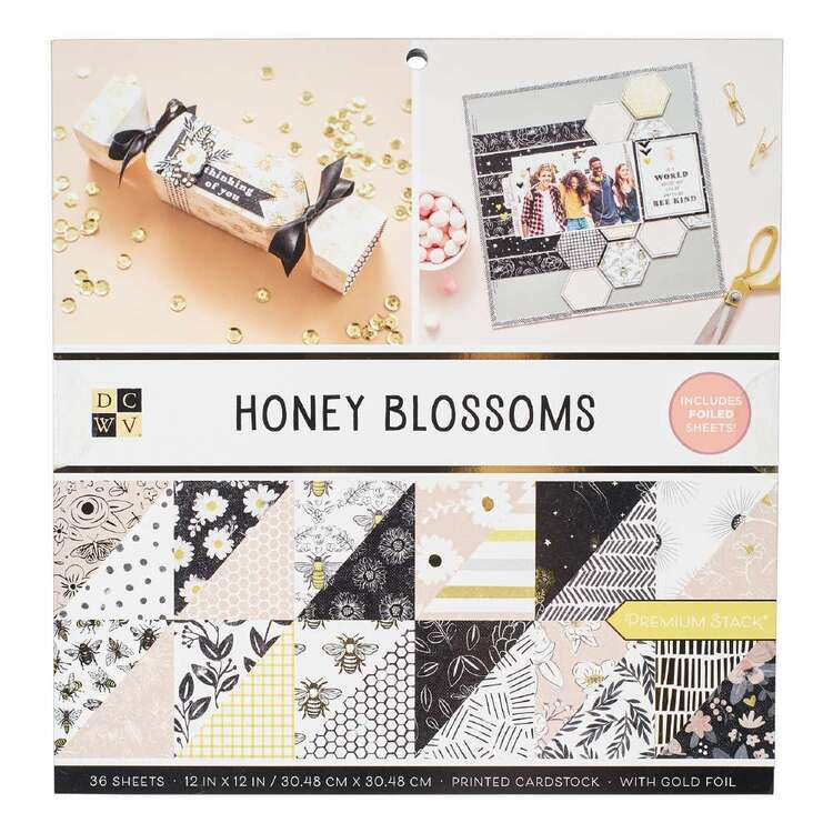 Die Cuts With A View Honey Blossoms Paper Pad
