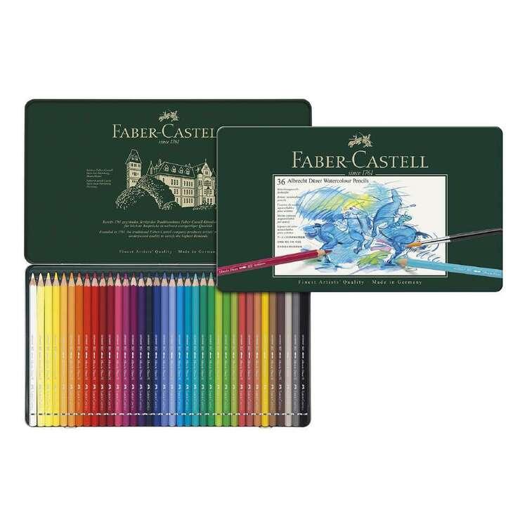 Faber Castell A.Duerer Watercolour Pencl Tin 36 Pack