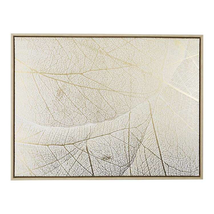 Cooper & Co Cocoon Comfort Leaf Vein With Foil Canvas Print