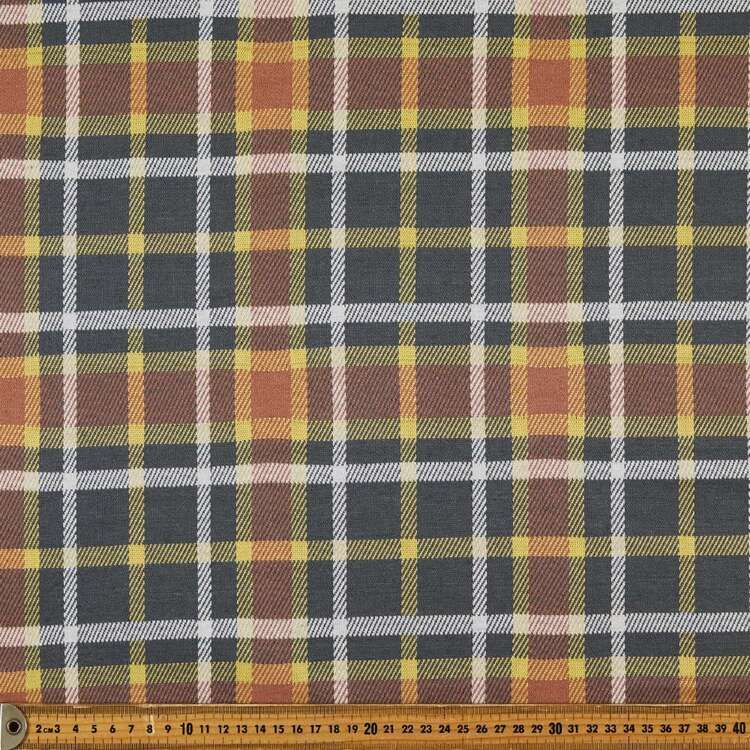 Plaid Printed 148 cm Double Knit Fabric