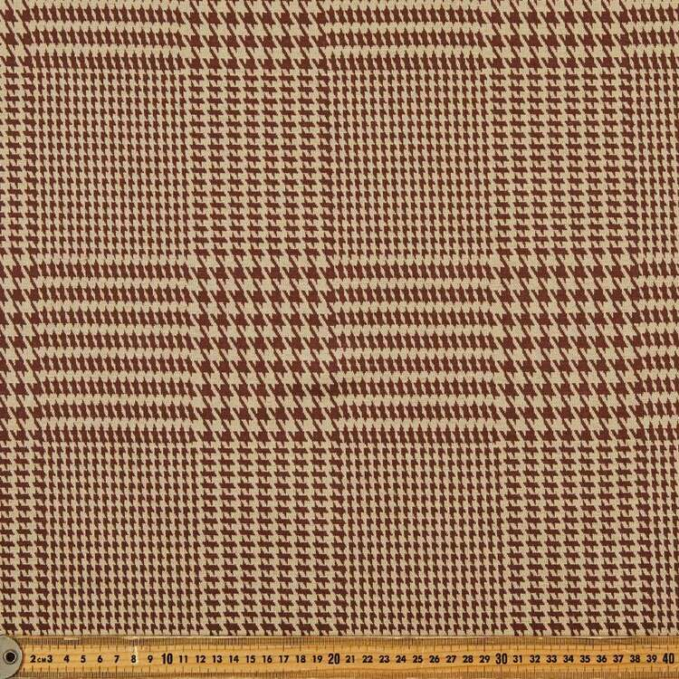 Glen Plaid Printed 148 cm Double Knit Fabric