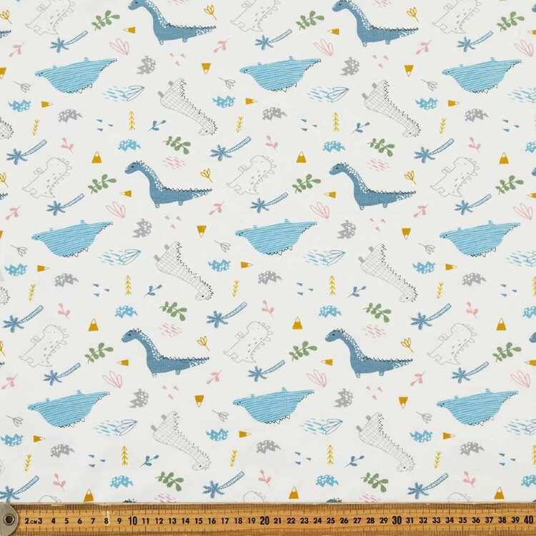 Dinos At Play Printed 148 cm Cotton Spandex Fabric