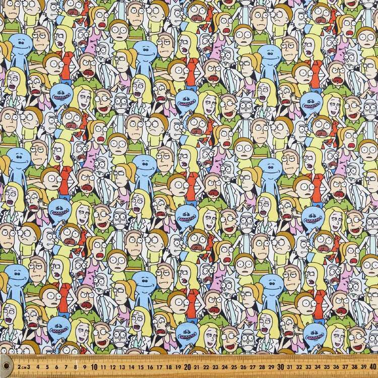 Rick & Morty All Over Cotton Fabric