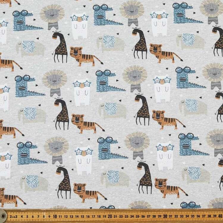 Croc & Friends Printed 148 cm Cotton Spandex Fabric