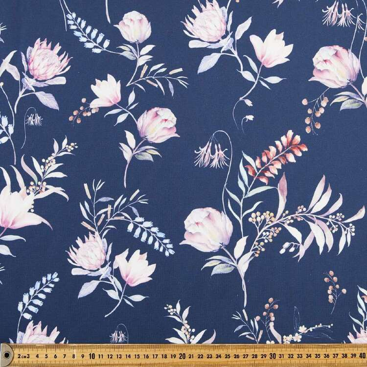 Protea Printed 148 cm Ponte Double Knit Fabric