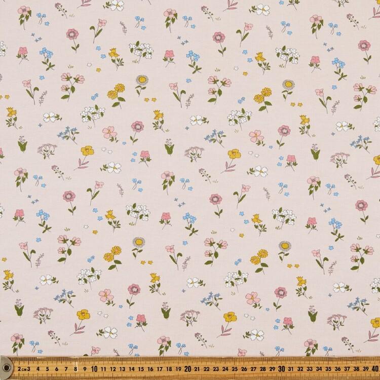 Ditsy Stem Floral Printed 148 cm Cotton Spandex Fabric
