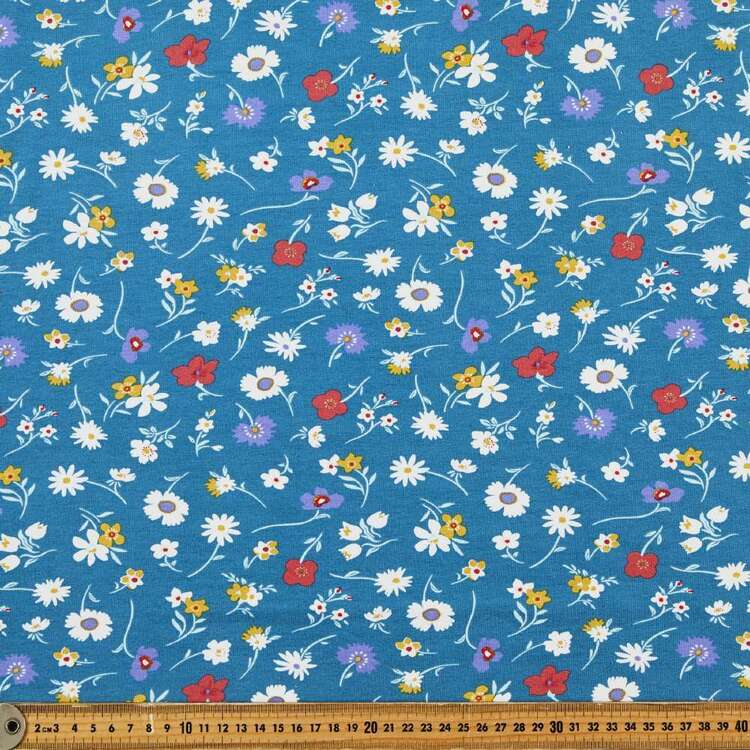 Ditsy Garden Floral Printed 148 cm Cotton Spandex Fabric