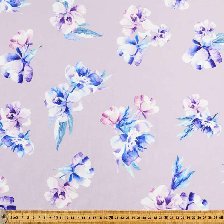 Orchard Bloom Printed 148 cm Ponte Double Knit Fabric