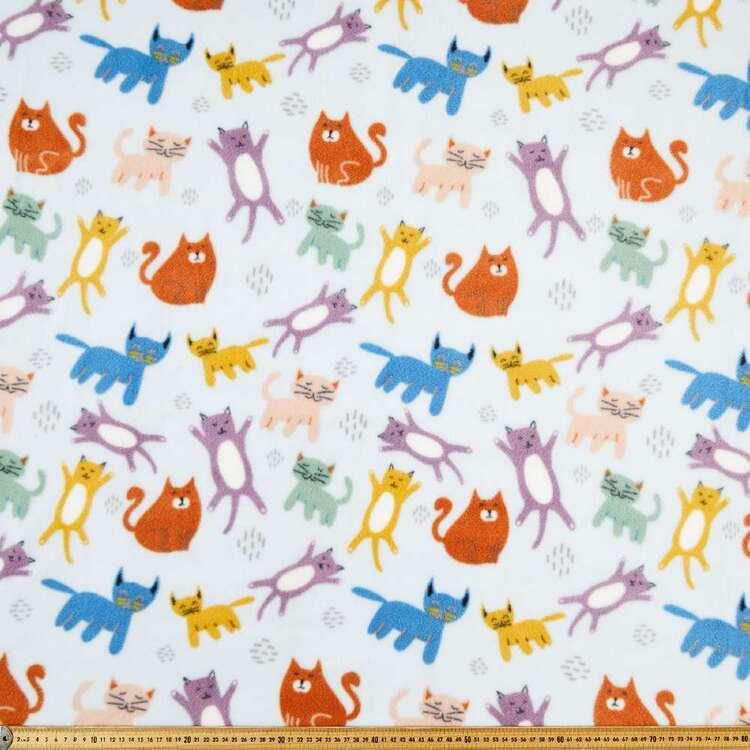 Perfect Cats Printed 148 cm Husky Polar Fleece Fabric