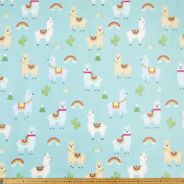 Llamas Printed 148 cm Husky Polar Fleece Fabric