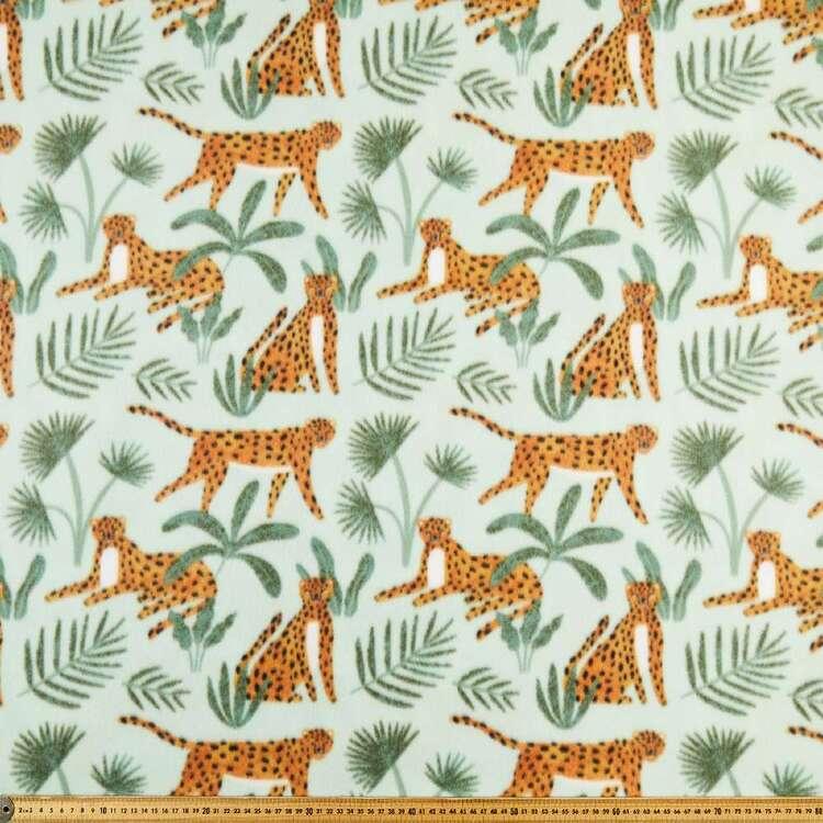 Leopard Prowl Printed 148 cm Husky Polar Fleece Fabric