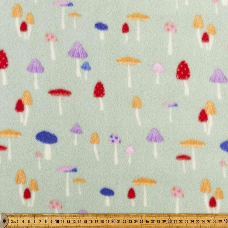 Garden Mushrooms Printed 148 cm Husky Polar Fleece Fabric
