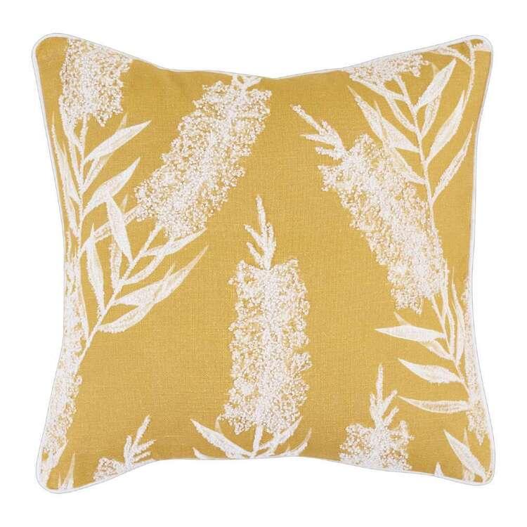 Koo Bottlebrush Embroidered Cushion