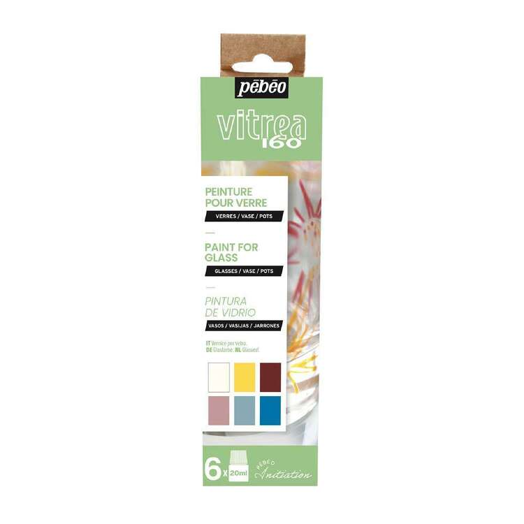 Pebeo Vitrea 160 6 Pack Paint For Glass Set A