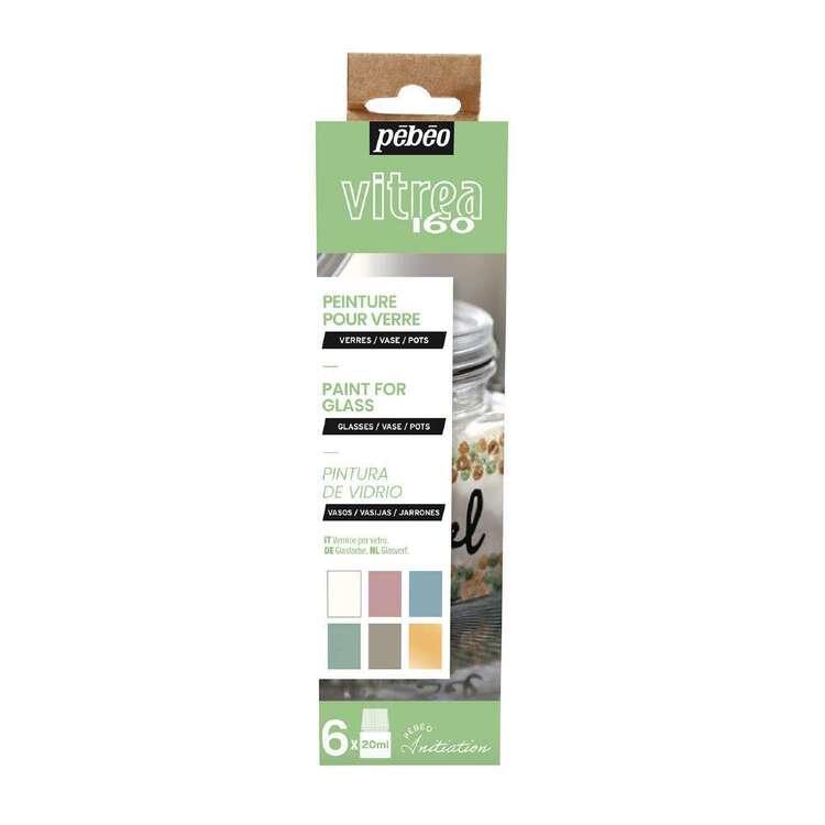 Pebeo Vitrea 160 6 Pack Multicolours Paint For Glass Set