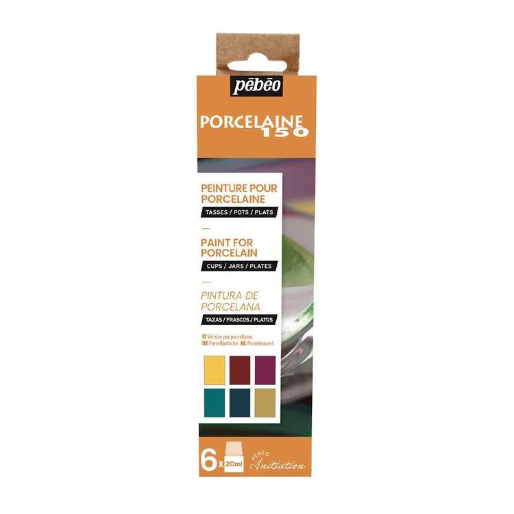 Pebeo Porcelaine 150 6 Pack Gloss Paint Set