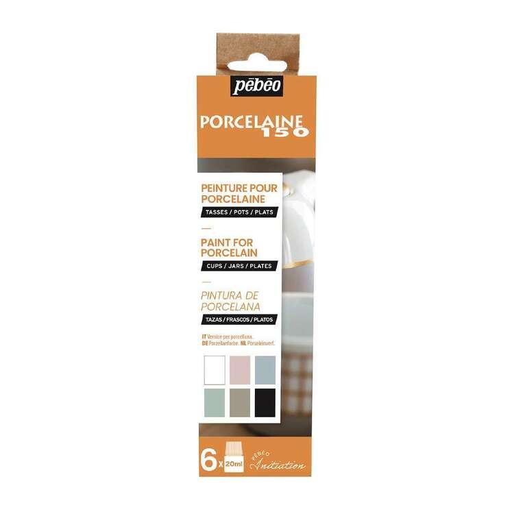 Pebeo Porcelaine 150 6 Pack Chalk Paint Set