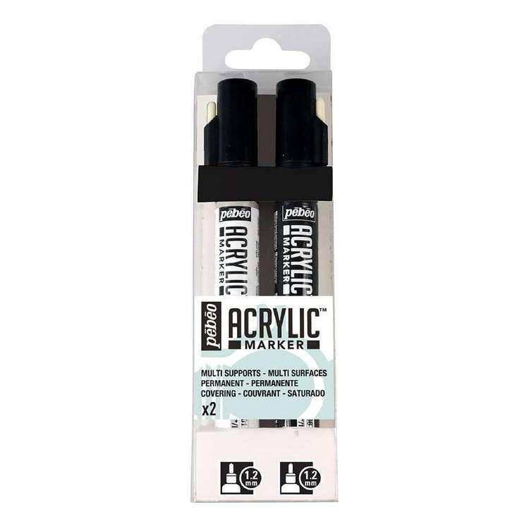 Pebeo 2 Pack Acrylic Marker Set