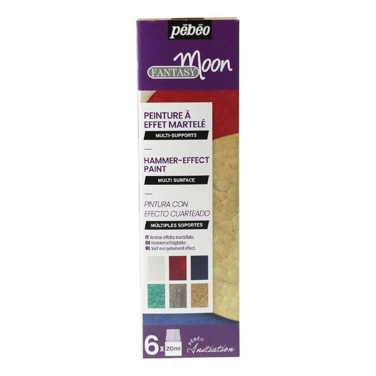 Pebeo Fantasy Moon 6 Pack Hammer-effect Paint
