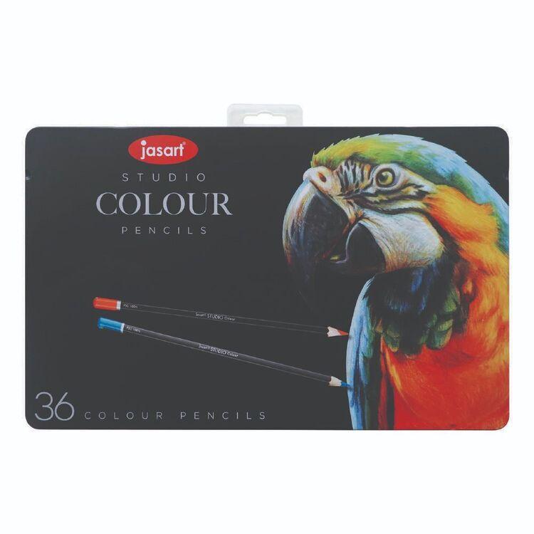 Jasart Studio 36 Pack Watercolour Pencil Tin Set