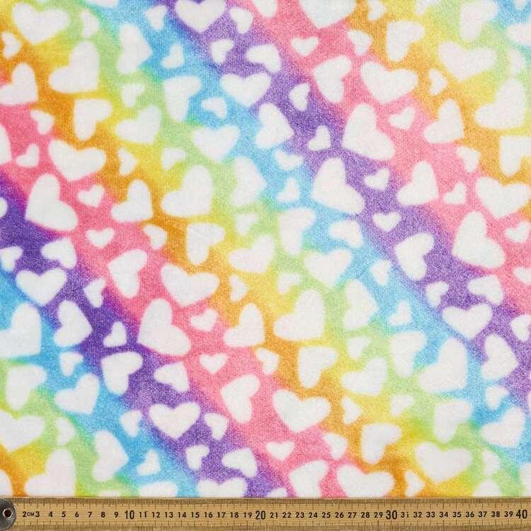 Rainbow Printed Faux Fur Fabric