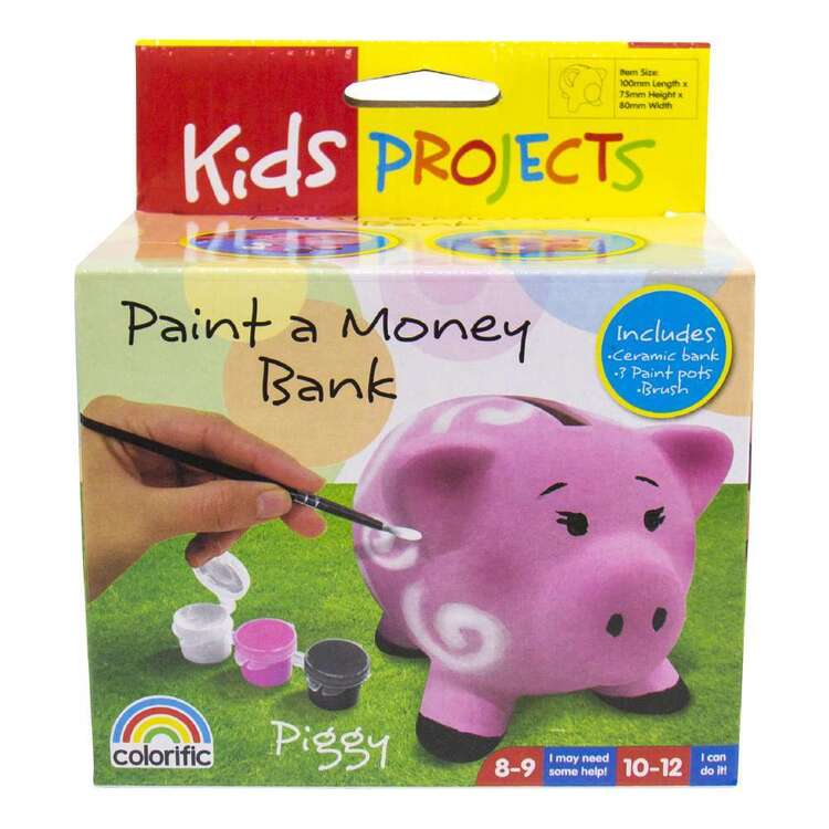 Kids Projects Paint a Money Bank Pig Kit