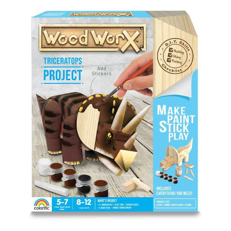 Wood WorX Triceratops Project Kit