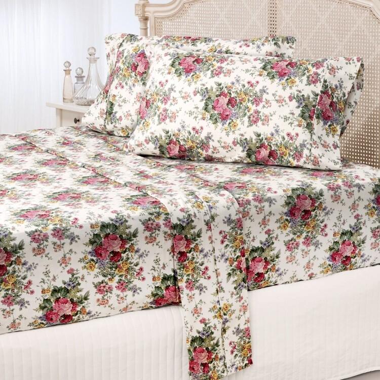Gainsborough Flannelette Rosewood Sheet Set