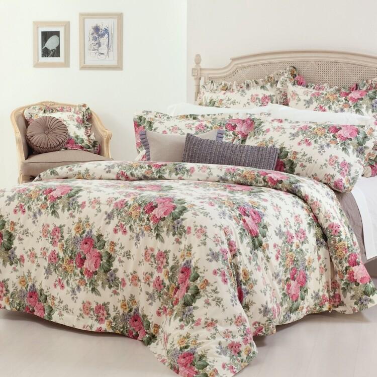 Gainsborough Flannelette Rosewood Quilt Cover Set