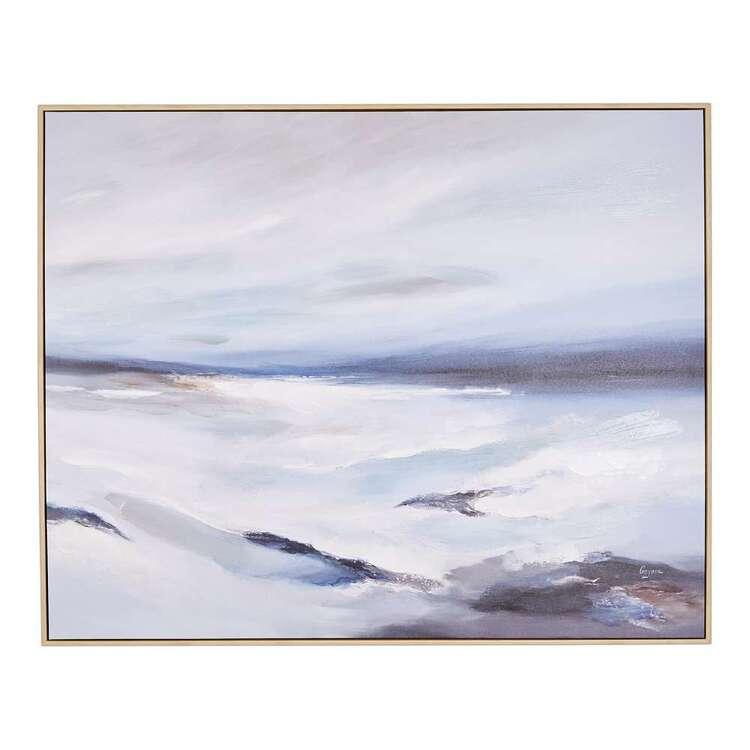 Winter Coastal Washing Away Framed Art