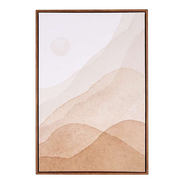 Cocoon Comfort Abstract Elements #1 Framed Canvas