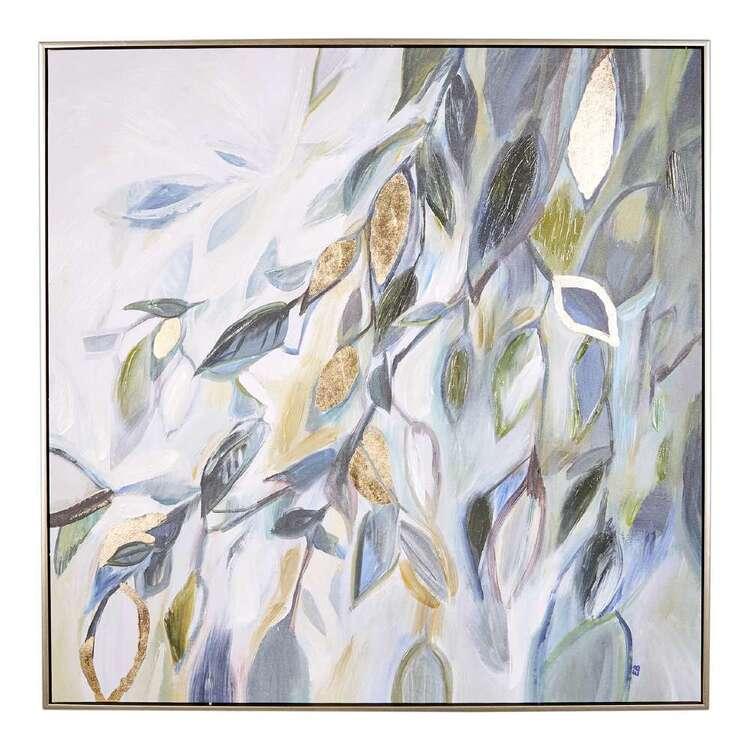 Cocoon Comfort Gold Foil Sweet Leaves Framed Canvas