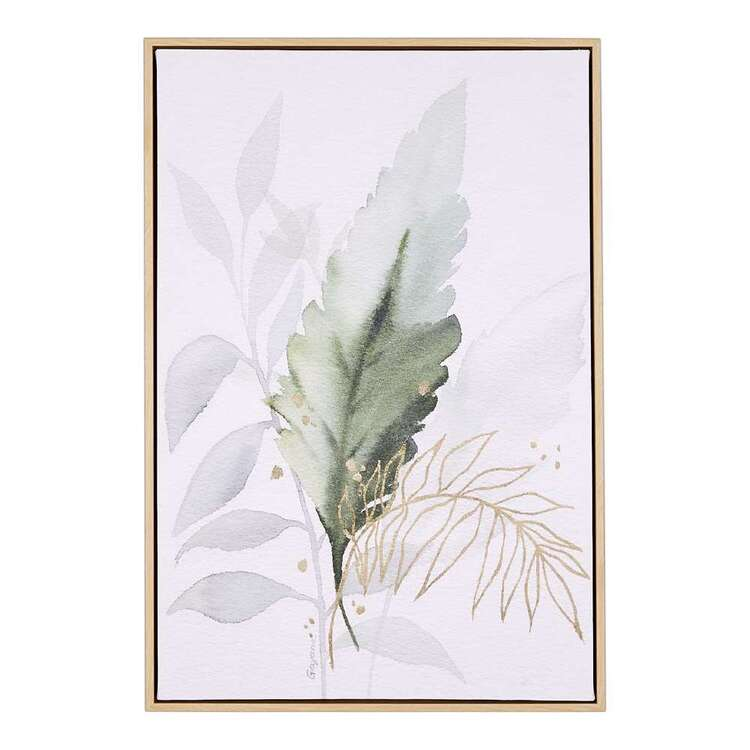 Cocoon Comfort Colour Green Framed Canvas