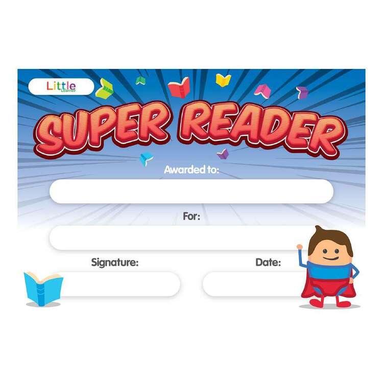 Little Learner 10 Pack Super Reader Certificate