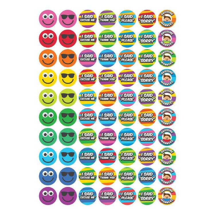 Little Learner 70 Piece Manners Stickers Set