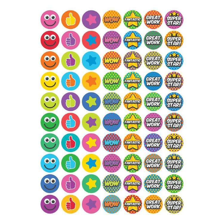 Little Learner 70 Piece Star Stickers Set