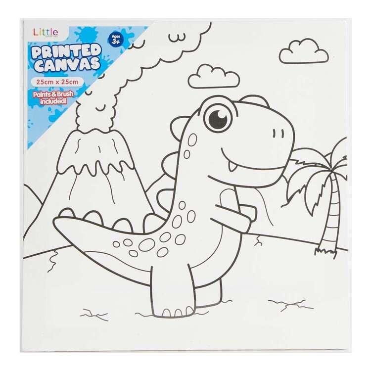 Little 1 Pack 25 x 25 cm Canvas Dinosaur Set