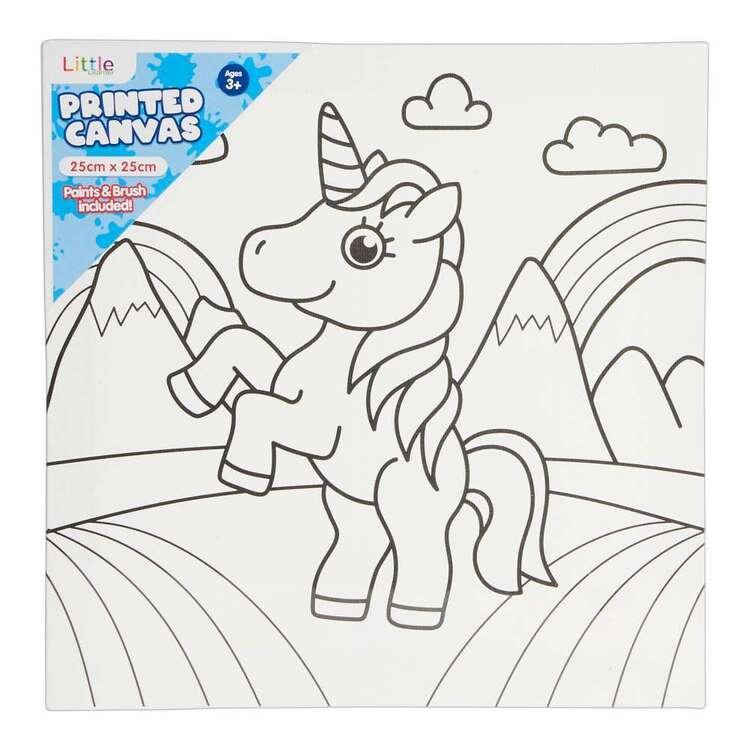 Little 1 Pack 25 x 25 cm Canvas Unicorn Set