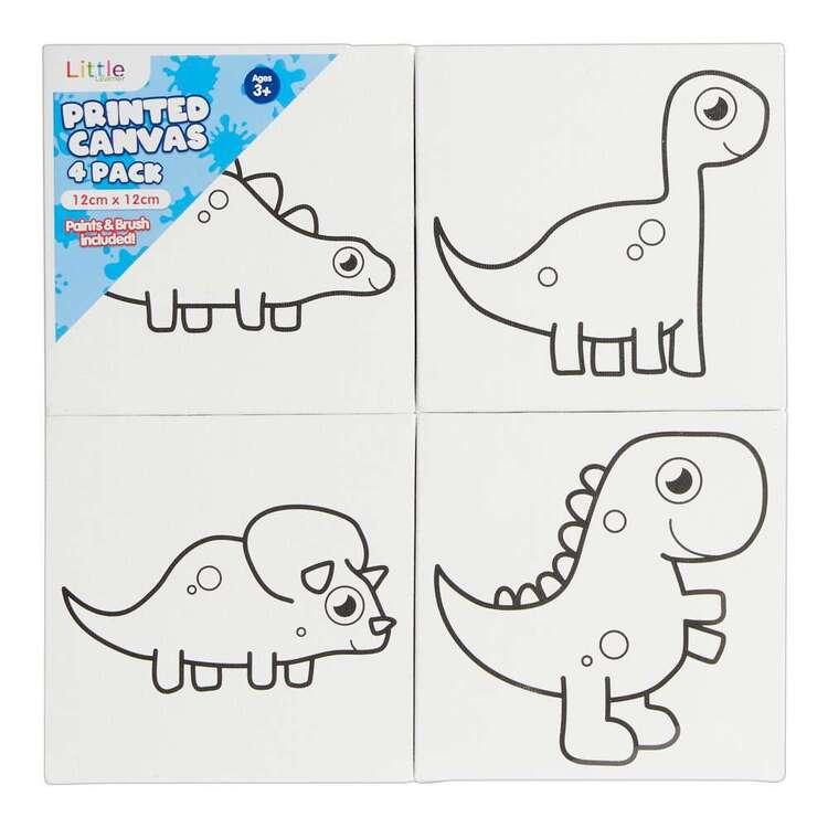 Little 4 Pack 12 x 12 cm Dinosaur Set