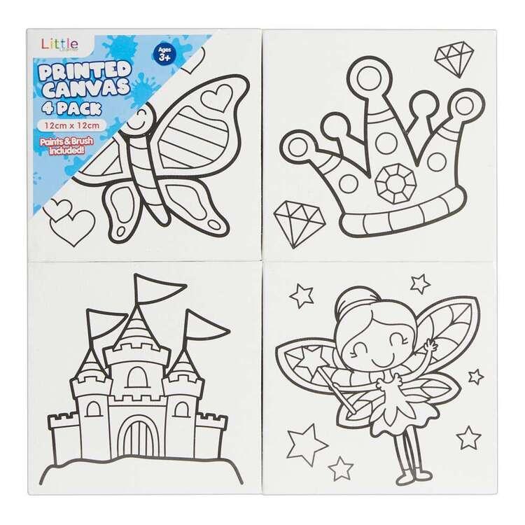 Little 4 Pack 12 x 12 cm Canvas Fairies Set