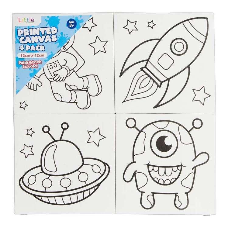 Little 4 Pack 12 x 12 cm Canvas Space Set
