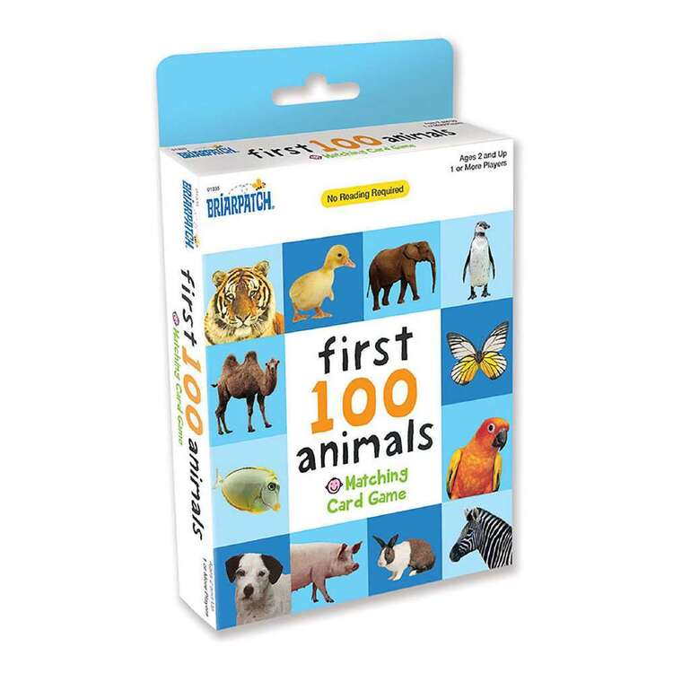 First 100 Animals Matching Card Game