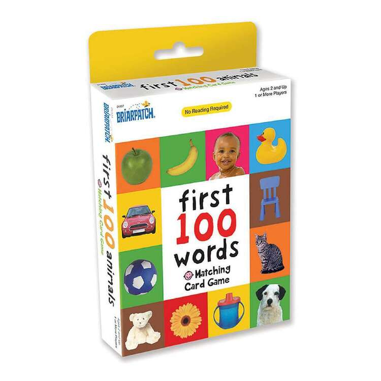First 100 Words Matching Card Game<br>