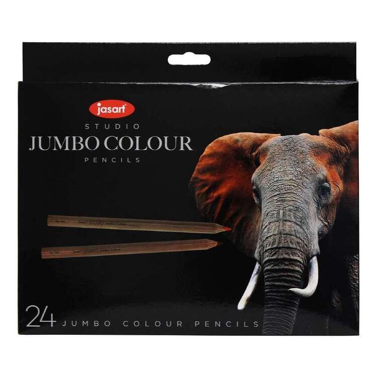 Jasart Studio 24 Pack Jumbo Colour Pencil Set